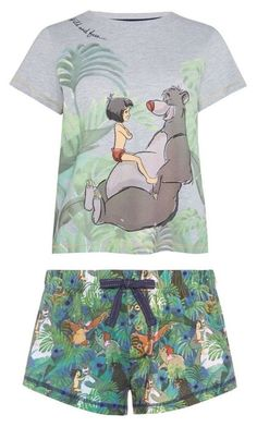 The Jungle Book Jersey Pyjama Box Set Mint Short Sleeve Womens Disney Primark