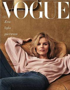 Eva Herzigová on the cover of Vogue Poland April 2018