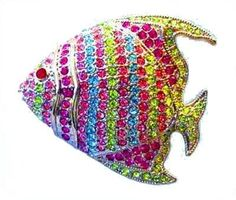 Colorful Angel Fish Pin Brooch Swarovski Crystals Pink Green Blue Purple Viol... Dazzlers. $31.95. Arrives In Padded Presentation Box With Certificate Of Authenticity. Each pin is hand set with Sparkling Swarovski Crystals & hand enameled.. Bonded Seller, Stocked On Site, Quick Delivery & Gift Wrapping is optional.. Exquisite, limited edition item which is sure to grow in value over time.. 100% Satisfaction Guaranteed Or Your Money Back. Save 42% Off!