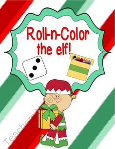 Roll-n-Color the Elf!freebie product from Engaging-Lessons on TeachersNotebook.com