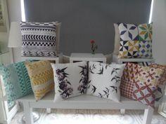 Gorgeous decorative pillows with Portuguese motifs. Made in Portugal / Almofadas decorativas lindas com toques Portugueses. Feito em Portugal