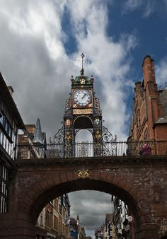 Eastgate clock, Chester, Cheshire, England Copyright: Jasmine Wang Places To Travel, Places To See, Chester Cathedral, Chester Cheshire, Cheshire England, Ireland Uk, England And Scotland, Places Of Interest, English Countryside