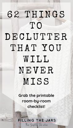 I'm so glad I found this printable decluttering checklist! If you don't know what to declutter first, you need this list! Breaking down decluttering room-by-room is genius -- and I can't believe it, but I really don't miss all the junk that used to clutter up my space! I'm loving my clean and organized house now. Click the image to get yours today… #organizing #checklist #decluttering