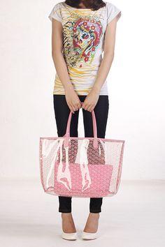 4284909b747b Goyard Transparent saint Louis Tote brought fresh and summer. Jing Wong ·  Goyard Transparent Bags
