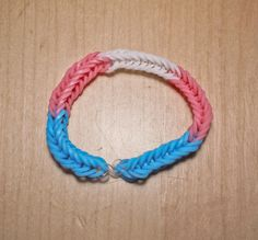 Trans Pride Flag Loom Bracelet (Block) from AeronMadeThis on Etsy