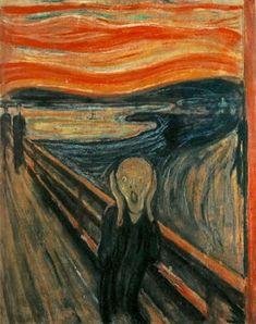 EXPRESIONISMO Expresionismo. El Grito, obra de Edvard Munch realizada en el 1893, composicion de cuatro cuadros, la version mas famosa se encuentra en noruega, La pintura trata de la vida atormentada del artista, un hombre educado por un rudo padre y que siendo de tan poca edad vio morir a su madre y a su hermana.