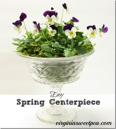 Easy Spring Centerpiece by virginiasweetpea.com