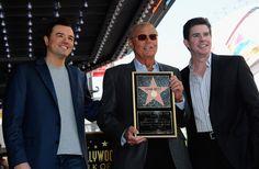 Adam West receives star on the Hollywood Walk of Fame- accompanied by Ralph Garman and Seth MacFarlane.