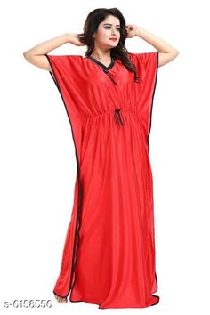Nightdress Trendy Alluring Women Nightdress Fabric: Satin Sleeve Length: Short Sleeves Pattern: Printed Multipack: 1 Sizes: Free Size (Bust Size: 40 in Length Size: 52 in) Country of Origin: India Sizes Available: Free Size *Proof of Safe Delivery! Click to know on Safety Standards of Delivery Partners- https://ltl.sh/y_nZrAV3  Catalog Rating: ★3.8 (7047)  Catalog Name: Trendy Alluring Women Nightdresses CatalogID_938165 C76-SC1044 Code: 762-6158556-