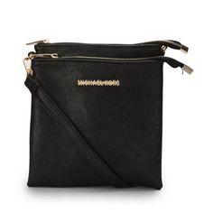 Perfect Michael Kors Logo Large Black Crossbody Bags, Perfect You