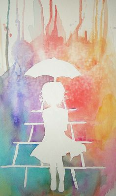 pretty watercolor... unfortunately the link from the original pinner was broken, and I tried a reverse Google image search to no avail... so if you know the original source, please do tell! :)