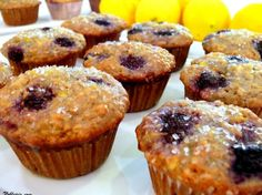 Blackberries can be a little tart, so the lemon glaze in these Lemon-Blackberry Muffins goes a long way and so does the coarse sugar topping. Get the recipe on NoblePig.com.