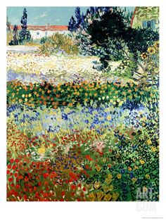 Garden in Bloom, Arles, c.1888 Giclee Print by Vincent van Gogh at Art.com