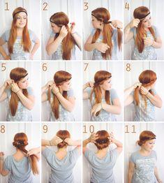 Schnell und schöne Frisur