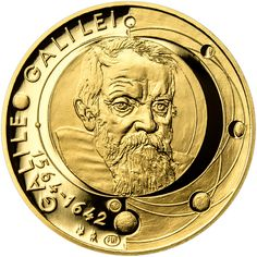 GALILEO GALILEI - 450. VÝROČÍ NAROZENÍ ZLATO Coins, Personalized Items, Love, Coining