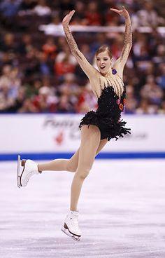 Carolina Kostner, Black Figure Skating / Ice Skating dress inspiration for Sk8 Gr8 Designs