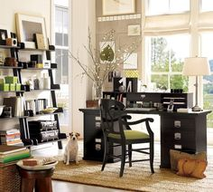 Decorations. Exquisite Modern Home Office Decorating Ideas. Agreeable Home Office Decorating Ideas comes with Black Wooden Computer Desk and Office Desk With Filing Cabinet