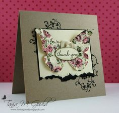 "♥♥♥ this beautiful card featuring Stampin' Up! ""Elements Of Style"" stamp set + Butterfly, gorgeous!"