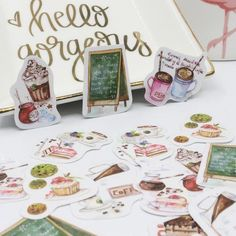 Watercolor Coffee Stickers, set of 50 – The White Pad