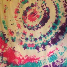 Tie dyed bed sheet-first attempt