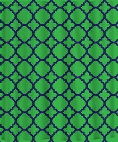 ON SALEGreen and Navy  Lattice Quatrefoil Fleur by PAMPERYOURSTYLE, $76.00