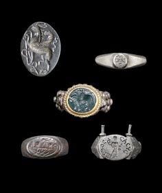 Roman silver rings. Circa 3rd Century A.D.