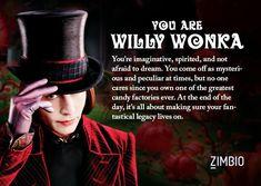 I took Zimbio's Johnny Depp character quiz and I'm Willy Wonka! Who are you?