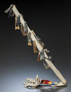 Sioux hide and dew claw rattle, 1890