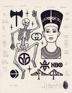 """Na década de 80 ele era só o """"Giant"""", um grafiteiro que chamava a atenção em São Francisco. De lá para cá, virou o Mike Giant, passou por escolas de arte, virou animador, depois abriu um estúdio de tatuagens, depois virou ilustrador e ho..."""