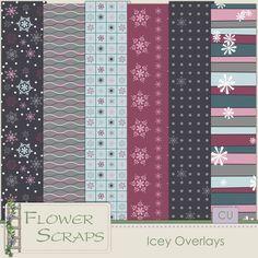 Icey Overlays - $2.39 : Digital Scrapbooking Studio