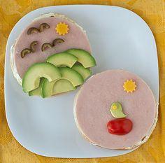 So cute and artistic! Lucy's Sunshine Sammies #recipe #lafujimama