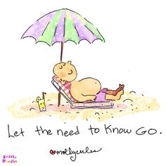 Buddha Doodle - 'let the need to know go'