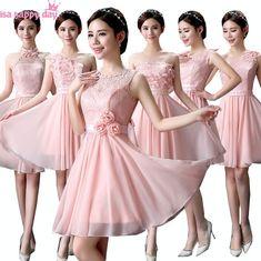 Vestidos de fiesta cortos para damas de honor