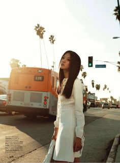 * So Young Kang by Laurie Bartley for Elle US March 2011.  #fashion #editorial