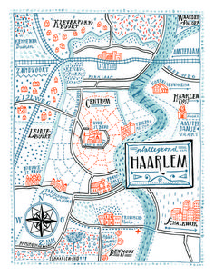 Illustration map Haarlem by Floor Rieder. Draw Map, Map Design, Graphic Design, Urbane Analyse, To Do Planner, Map Projects, Art Carte, Information Design, Custom Map