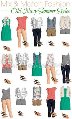 Capsule wardrobes or fashion capsules are becoming uber popular. Why? This not so new trend is a great way to declutter your closet, save you money and ensure you never leave the house in an outfit you don't love.Check out this fun Summer Fashion Board from Old Navy.