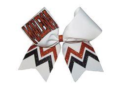 Custom Varsity Glitter Monogrammed Cheer by SouthernGirlsShoppe