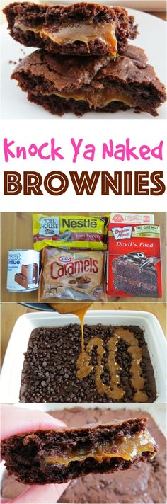 Gooey Chocolate Caramel Brownies recipe from The Country Cook