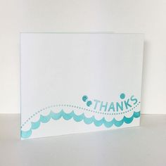 An easy, simple and pretty thank you card using the thanks scallop border die from @simonsaysstamp. #simonsaysstamp