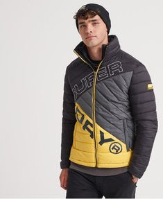 Shop Superdry Mens Incline Quilt Fuji Jacket in Black. Buy now with free delivery from the Official Superdry Store. Superdry Jackets, Superdry Mens, Puffer Jackets, Winter Jackets, Men's Jackets, Winter Coats, Nylons, Fuji, Mens Outdoor Jackets