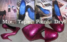 FASHION TALES: DIY: A Spool of Earrings and Glitter Shoes