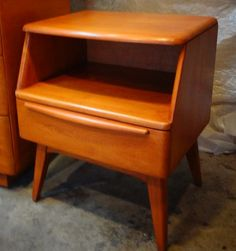 Heywood Wakefield End Table In Custom Amber Finish.