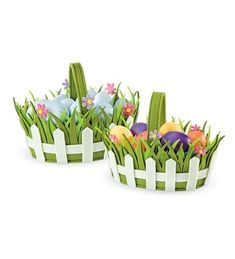 Main image for Carry-a-Garden Easter Baskets, set of 2 Hoppy Easter, Easter Gift, Easter Crafts, Holiday Crafts, Easter Eggs, Foam Crafts, Diy And Crafts, Crafts For Kids, Filled Easter Baskets