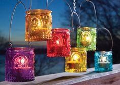 Fleur De Lis Tealight Lanterns (Set of Four) $20.00