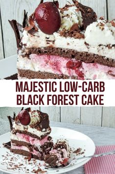 Majestic low-carb Black Forest cake | My Sweet Keto