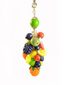 Fruit Necklace pendant Polymer clay jewelry Handmade jewelry