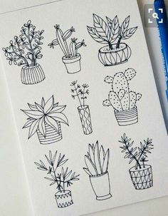 25 Easy Doodle Art Drawing Ideas For Your Bullet Journal Doodle art and bullet journals go hand in hand. Discover 25 easy doodle art drawing ideas for your bullet journal. Learn how to draw the perfect doodle. Easy Doodle Art, Doodle Art Drawing, Plant Drawing, Drawing Ideas, Cactus Drawing, Succulents Drawing, Learn Drawing, Succulents Art, Drawing Tips
