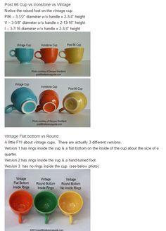 Fiesta® Cup Comparison | Post 86 Reference