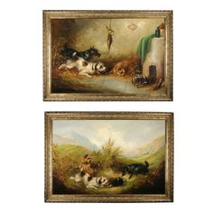 Pair of Antique Dog Paintings by Frank Cassell   1stdibs.com