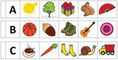 Busca el intruso: Empieza por la letra -Orientacion Andujar Cards, Letter E Activities, Initials, Reading, Alphabet, Frases, Literacy Activities, Kids Learning Activities, Projects